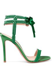 Gianvito Rossi   Satin and lam   sandals at Net A Porter