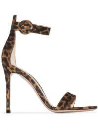 Gianvito Rossi Portofino 105mm leopard-print Sandals - Farfetch at Farfetch