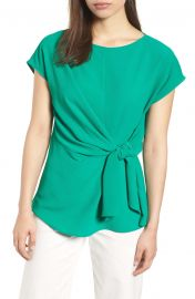 Gibson Tie Front Blouse  Regular  amp  Petite at Nordstrom