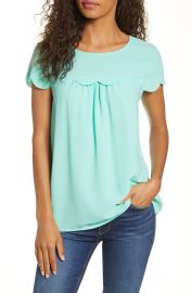 Gibson x Fall Refresh Fancy Ashley Woven Scallop Top at Nordstrom
