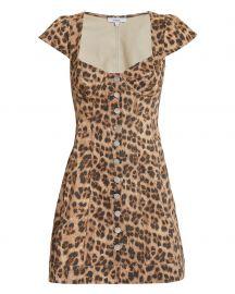 Gigi Leopard Mini Dress at Intermix