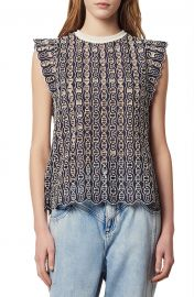 Gill Broderie Anglaise Blouse by Sandro at Nordstrom