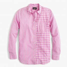Gingham cocktail shirt at J. Crew