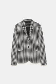 Gingham Blazer at Zara