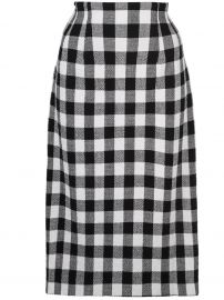 Gingham Midi Skirt by Veronica Beard at Farfetch
