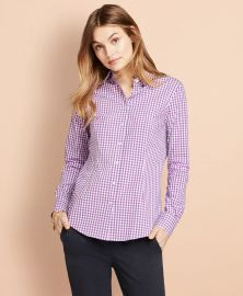 Gingham Stretch Cotton Poplin Shirt at Brooks Brothers