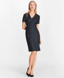 Gingham Wool Twill Sheath Dress at Brooks Brothers