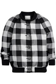 Gingham jacquard bomber jacket at The Outnet
