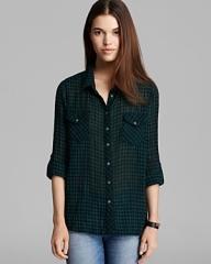 Gingham shirt by CC California at Bloomingdales