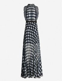 Gingham sleeveless crepe dress at Selfridges