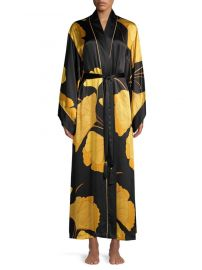 Gingko Floral Silk Robe by Josie Natori at Saks Off 5th