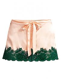 Ginia - Lace-Trimmed Shorts at Saks Fifth Avenue