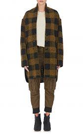 Gino Checked Wool-Blend Coat at Barneys