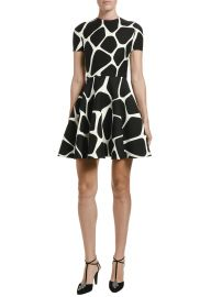 Giraffe Crepe Couture A-Line Dress at Bergdorf Goodman