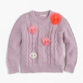 Girls  Max the Monster popover sweater at J. Crew