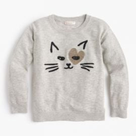 Girls  kitty love popover sweater at J. Crew