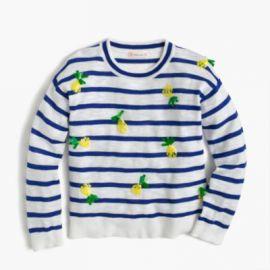 Girls  sequin pineapple popover sweater at J. Crew