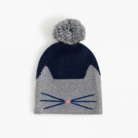 Girls  sparkly cat beanie at J. Crew