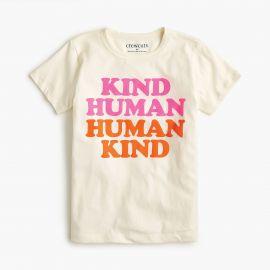Girls  x27   quot human kind quot  T-shirt at J. Crew