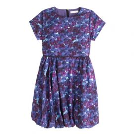 Girls Bubble Hem Dress in Violet Floral at J. Crew