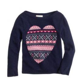 Girls Fair Isle heart sweater at J. Crew