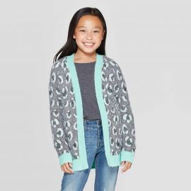 Girls Long Sleeve Animal Print Open Layering Sweater by Cat  Jack at Target at Target