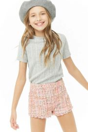 Girls Multicolored Tweed Shorts  at Forever 21