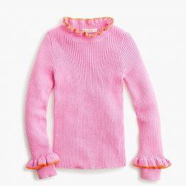 Girls Ribbed Turtleneck Sweater at J.Crew