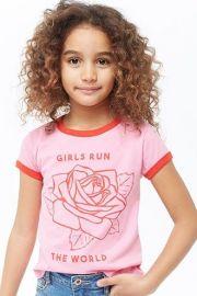 Girls Run The World Graphic Ringer Te at Forever 21