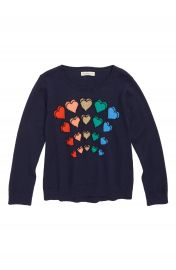 Girls Sparkle Heart Sweater by Tucker  Tate at Nordstrom Rack