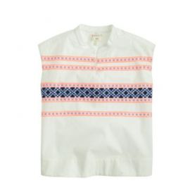 Girls embroidered sleeveless tunic at J. Crew