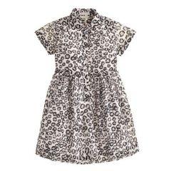 Girls leopard print shirtdress at J. Crew