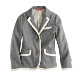 Girls schoolboy blazer in tipped flannel at J. Crew