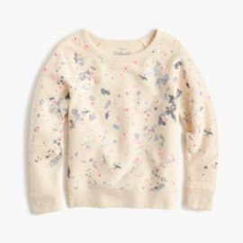 Girls splatter paint sweatshirt at J. Crew