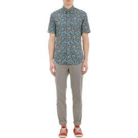Gitman Vintage Geometric Tipi-Print Short-Sleeve Shirt at Barneys