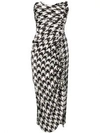 Giuseppe Di Morabito Houndstooth Print Ruched Dress - Farfetch at Farfetch