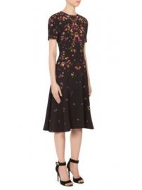 Givenchy - Anna Pansy-Print Cady Dress at Saks Fifth Avenue