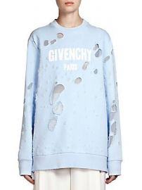 Givenchy - Distressed Logo Sweatshirt at Saks Fifth Avenue