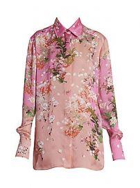 Givenchy - Floral Silk Shirt at Saks Fifth Avenue