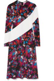 Givenchy - Silk-trimmed floral-print crepe midi dress at Net A Porter