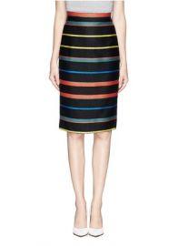 Givenchy Basket Weave Stripe Pencil Skirt at Lane Crawford