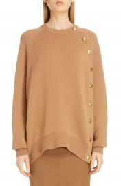 Givenchy Button Side Wool Sweater   Nordstrom at Nordstrom