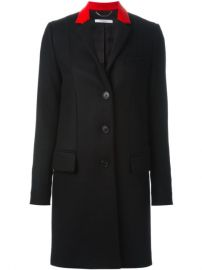 Givenchy Contrast Collar Coat at Farfetch