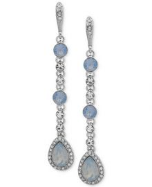 Givenchy Crystal   Stone Linear Extra Large Drop Earrings    Reviews - Fashion Jewelry - Jewelry   Watches - Macy s at Macys