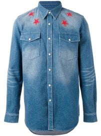 Givenchy Denim Star Embroidered Shirt  1 300 - Buy Online AW17 - Quick Shipping  Price at Farfetch