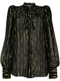 Givenchy Fil Coup   Pussy Bow Blouse - Farfetch at Farfetch