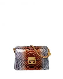 Givenchy GV3 Small Metallic Python Shoulder Bag at Neiman Marcus