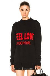 Givenchy I Feel Love Sweater in Black   Red   FWRD at Forward