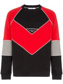Givenchy Logo Embroidered Geometric Cotton Sweatshirt - Farfetch at Farfetch