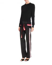 Givenchy Logo-Tape Pull-On Pants  Black   Neiman Marcus at Neiman Marcus